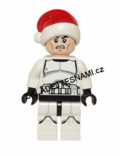 LN1765 LEGO NOVÁ MINIFIGURKA STAR WARS Clone Trooper with Santa Hat