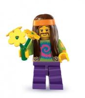 LN138 LEGO NOVÁ MINIFIGURKA HIPPIES DĚTI KVĚTIN