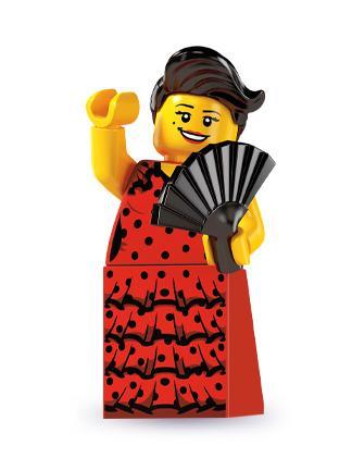 LN258 LEGO NOVÁ FIGURKA TANEČNICE FLAMENGA S VĚJÍŘEM