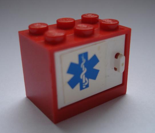 LH733 LEGO HRANÉ ČERVENÁ STŘÍNKA SANITKA