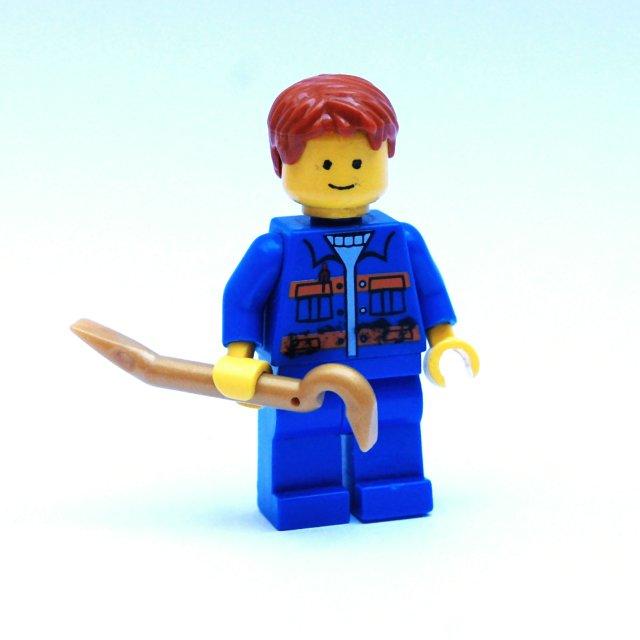 LH241 LEGO HRANÝ MUŽ V MONTÉRKÁCH S PÁČIDLEM
